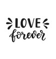 love forever hand drawn brush lettering vector image