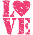 Love grunge rubber stamp vector image vector image