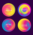modern futuristic gradient elements set vector image vector image