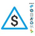 Money Warning Flat Icon With Bonus vector image vector image