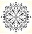 monochrome contour flower mandala vector image