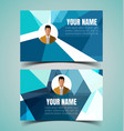 name card template5 vector image vector image
