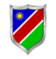 Namibia flag button vector image vector image