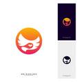 owl logo design template bird logo concept vector image vector image