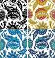 paisley floral elements vector image