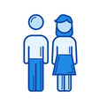 parents line icon vector image