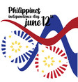 philippines independent day template design vector image