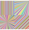 Rainbow color stripes Line art abstract vector image