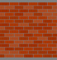 red brick wall icon isolated on background modern vector image