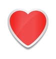 Red heart icon Heart sticker on white background vector image vector image