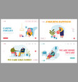 senior people activity and spare time website vector image vector image