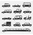 set funny cartoon car vector image vector image