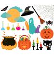 Set of magical symbols of Halloween