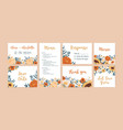 set vertical horizontal and square wedding vector image vector image