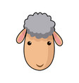 sheep face manger animal cartoon image vector image vector image