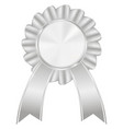 silver award badge vector image vector image