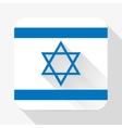 Simple flat icon Israel flag vector image vector image