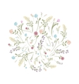 Spring floral frame for your design vector image