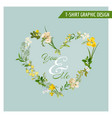 summer and spring field flowers graphic design vector image vector image
