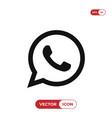 telephone icon whatsapp logo vector image