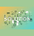 thin line flat design banner of business solutions vector image vector image