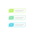 Three steps workflow graphic elements design