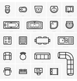 Top view furniture icons vector image vector image