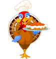 Turkey and Pie vector image vector image