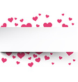 Valentines background with pink hearts vector image vector image