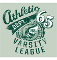 Varsity athletics vector image vector image