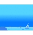 Wallpaper Landscape of Seascape and Sail vector image vector image