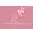 woman hold her baby with air balloons vector image vector image