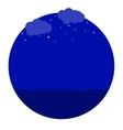 night in the sea icon vector image