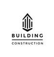 building construction logo vector image