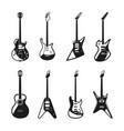 different rock electric guitars set vector image