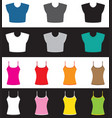 top and shirt set vector image