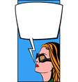 Pop Art Woman and Comic Bubble vector image