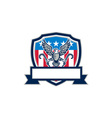 American Eagle Clutching Towing J Hook Shield vector image vector image