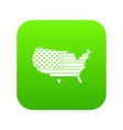 american map icon digital green vector image