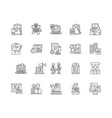 auditors line icons signs set outline vector image vector image