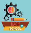 back to school label with brain storming vector image vector image