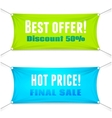 Best Offer and Hot Price banners vector image vector image