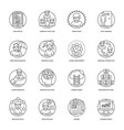 business and data management line icons se vector image vector image