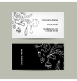 Business card template for your design Floral vector image