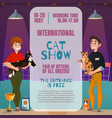 cat show announcement poster vector image vector image
