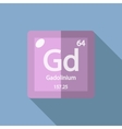 Chemical element Gadolinium Flat vector image vector image