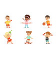 children engage in various sports set vector image vector image