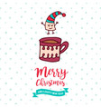 christmas and new year cute marshmallow cartoon vector image vector image