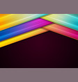 colorful geometric smooth stripes abstract vector image vector image
