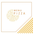 Design menu Pizza vector image